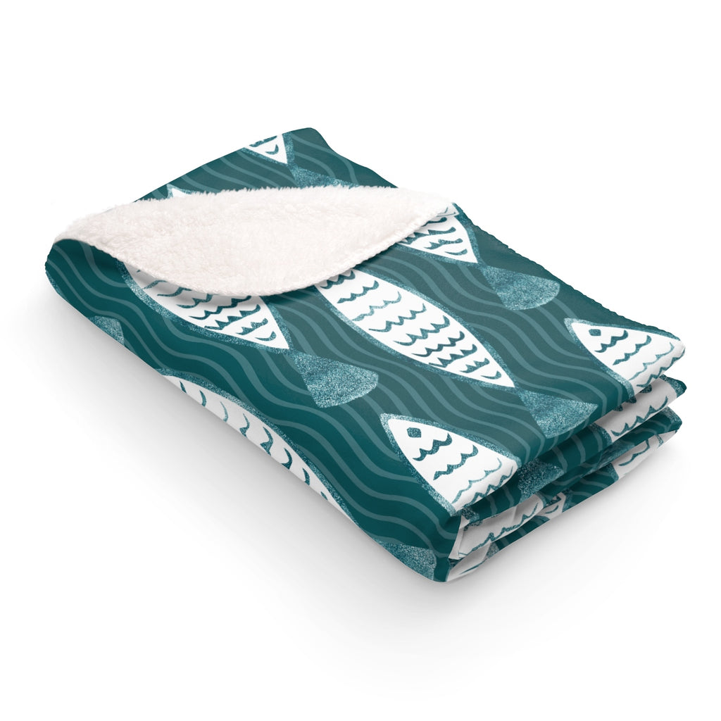 Designer Fish Fleece Blanket
