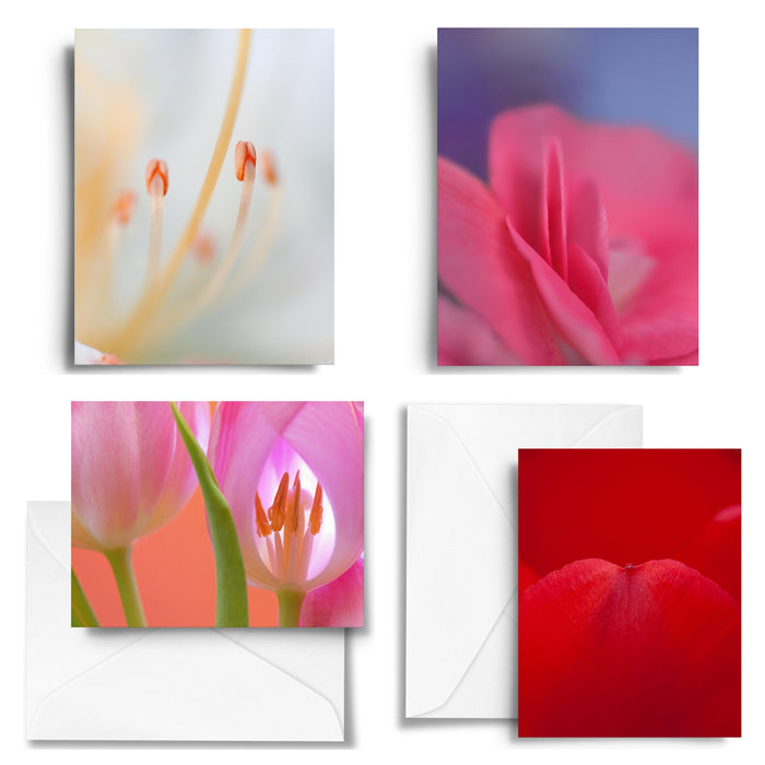Spring Tulips Art Card Set x4