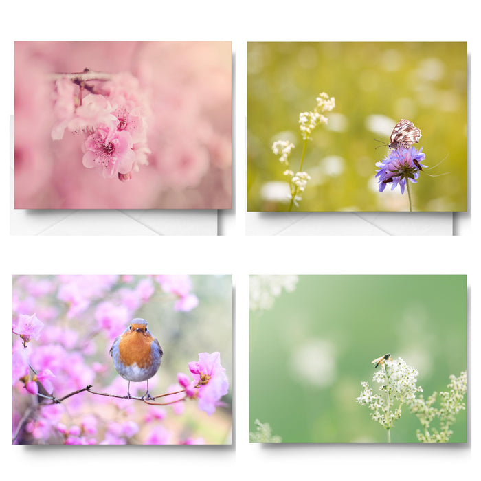 Pastel Springtime Art Card Set x4