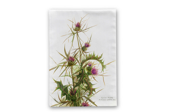 Scottish Thistle Themed Tea Towel