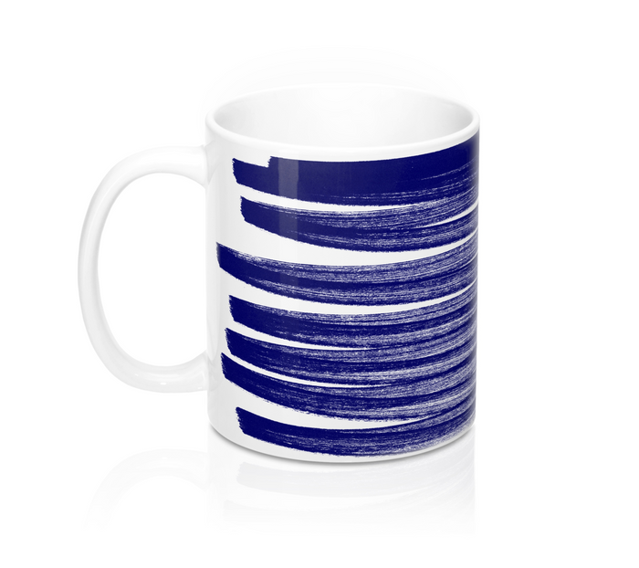 Blue Stroke Mugs