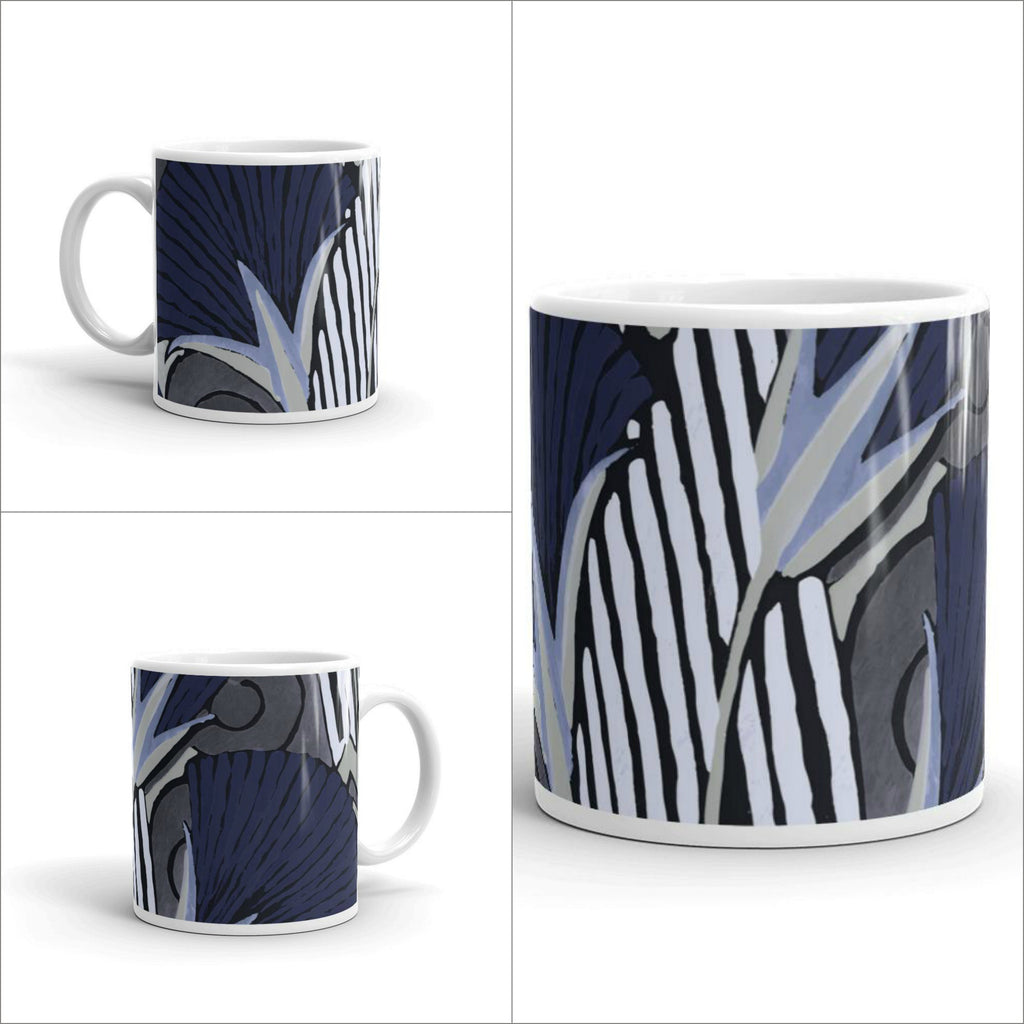 Graphic Deco Floral Mugs