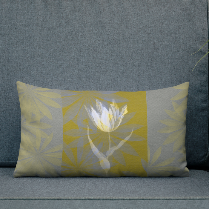 Retro Tulip Cushion - Oblong