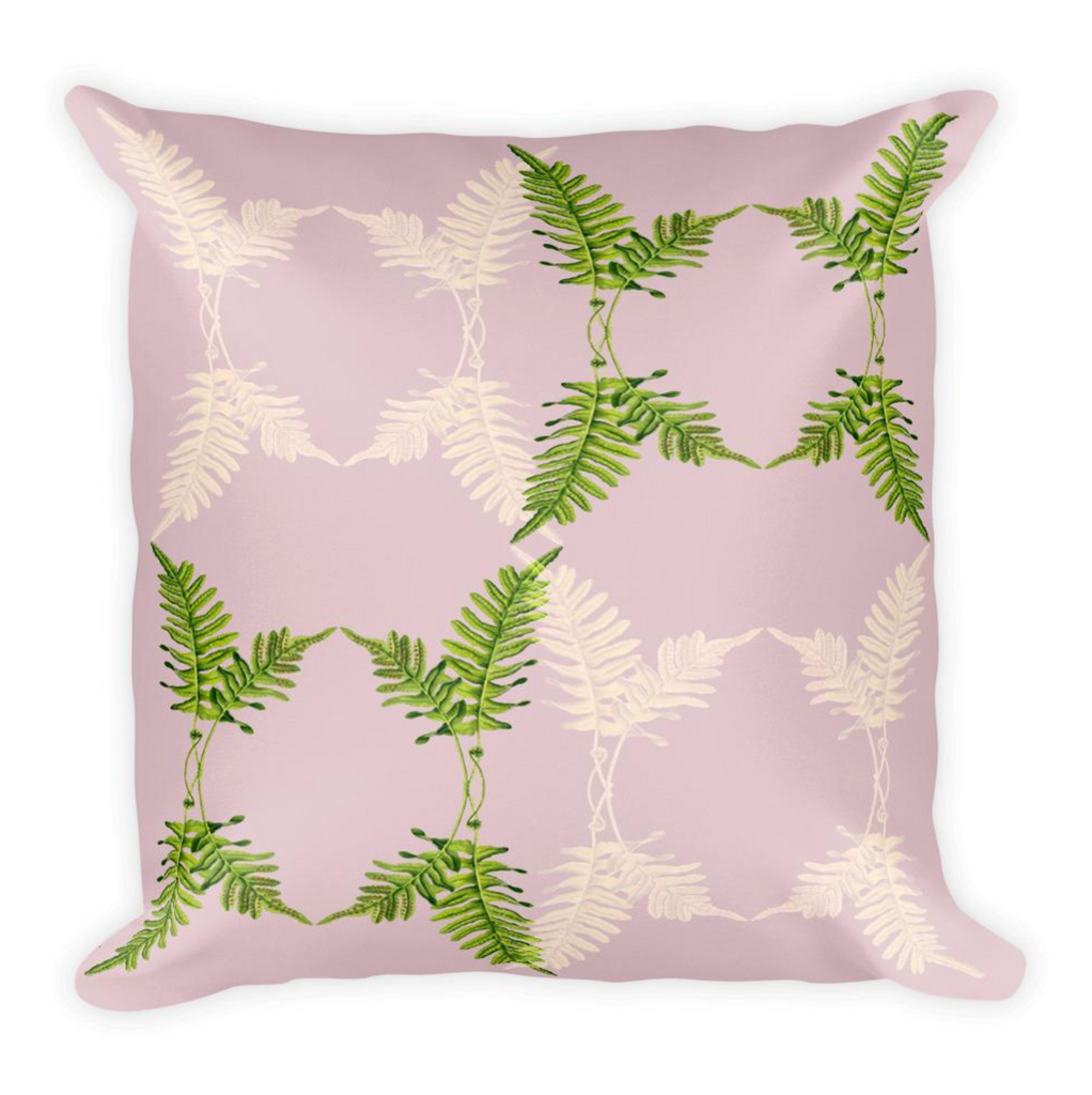 Retro Pink Fern Cushion Set