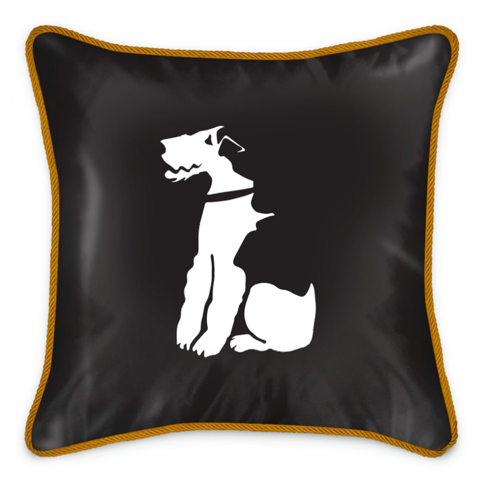 100% Silk Fox Terrier Cushion