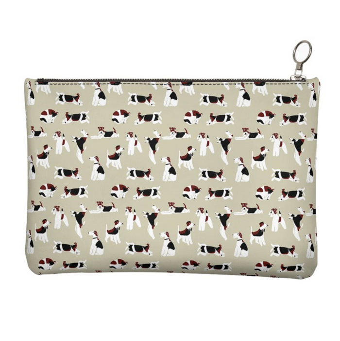 Wire Fox Terrier Clutch Bag