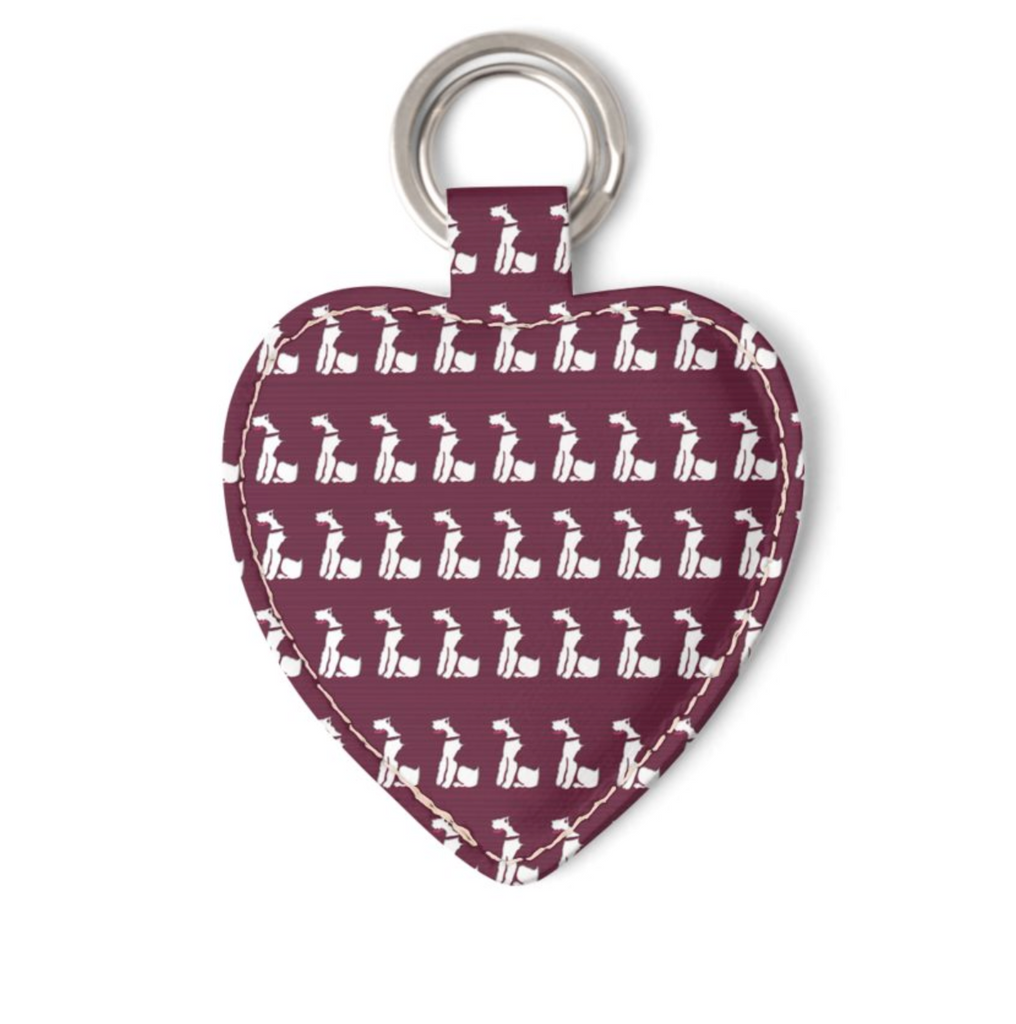 Wire Fox Terrier Leather Keyring