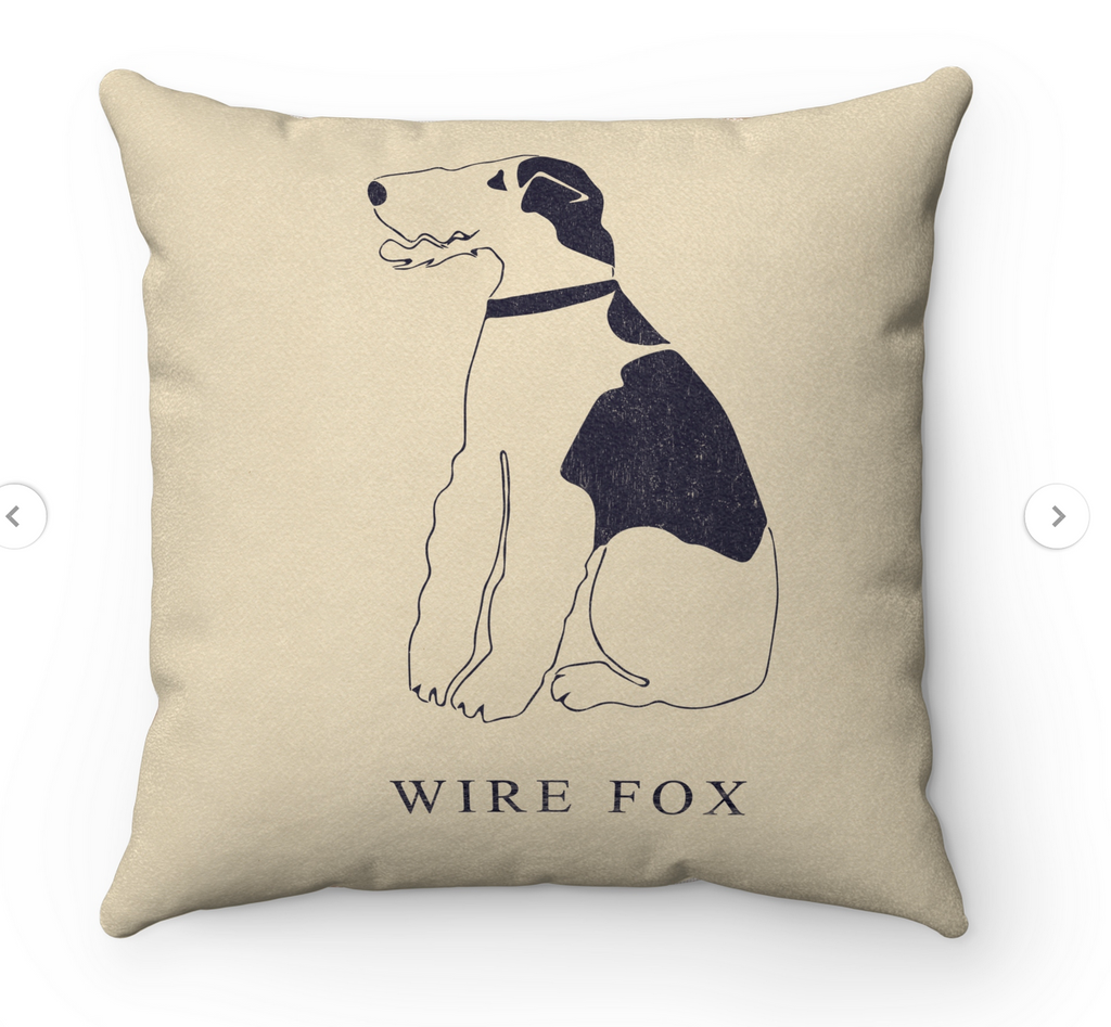 Wire Fox Terrier Scatter Cushion - Foxy Icon