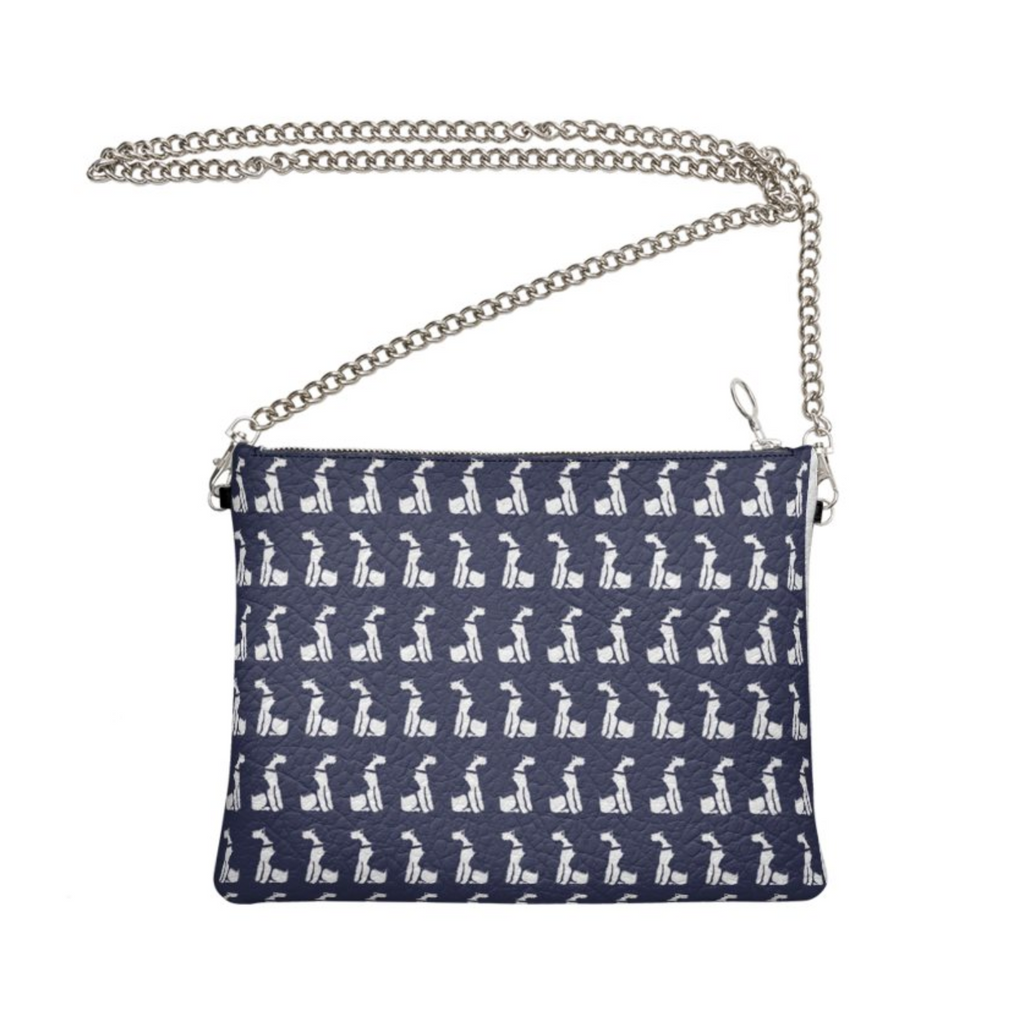 Wire Fox Terrier - Chained Clutch Bag