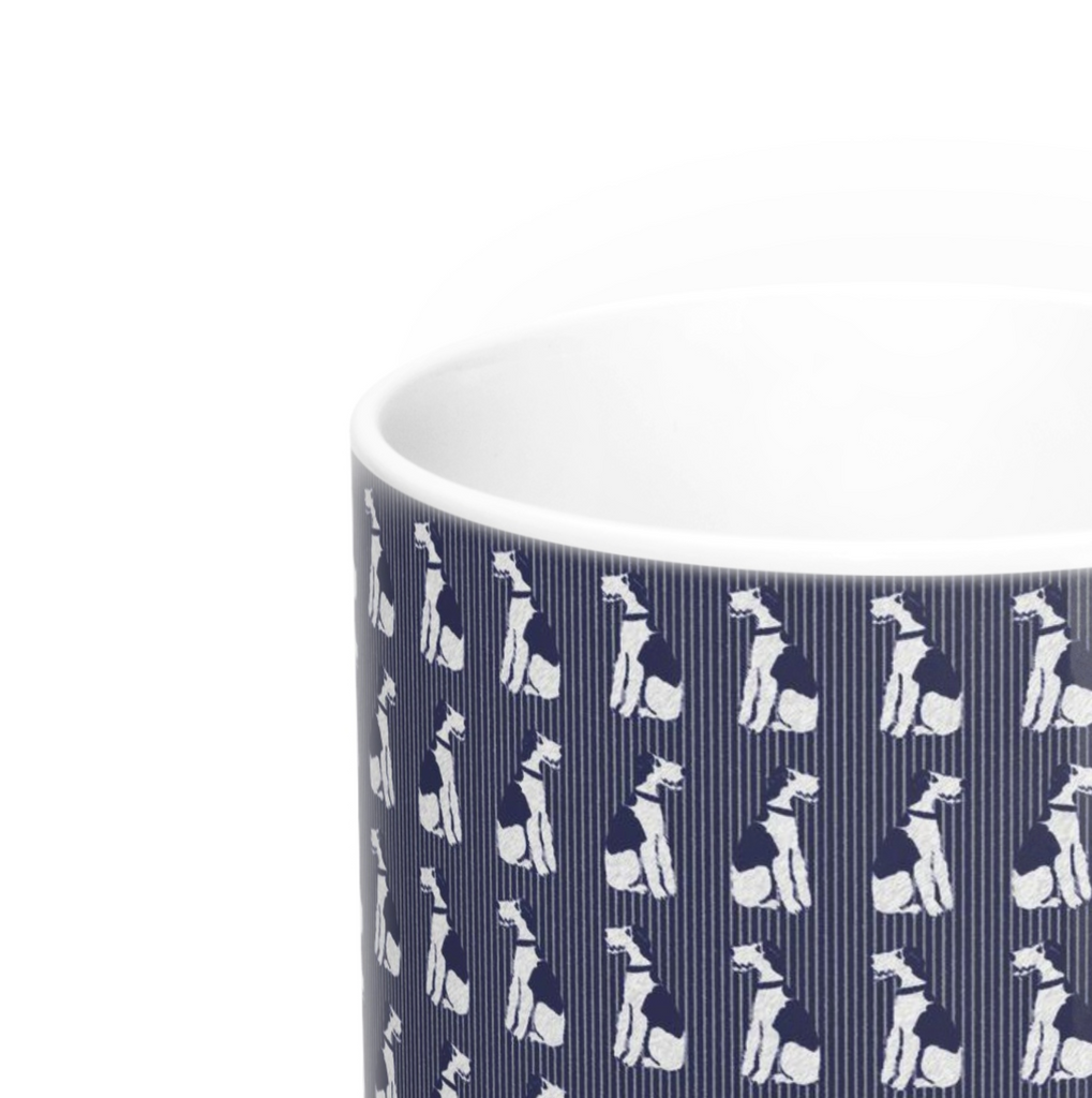 Wire Fox Terrier - Navy Theme