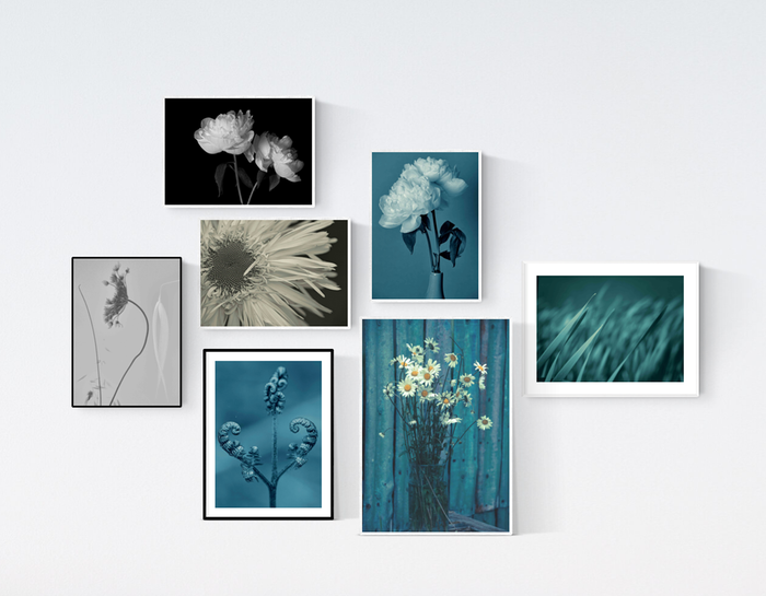 Blue themed Scatter Wall prints