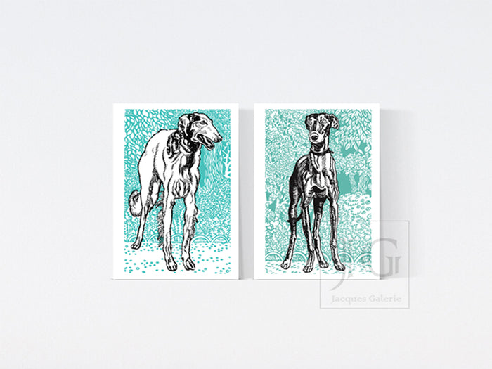 A3 Grey Hound Prints