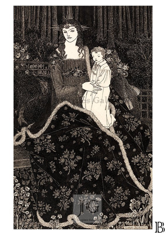 Christmas Card - Aubrey Beardsley