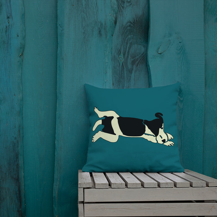 Wire Fox Terrier Pop Art Styled Cushion