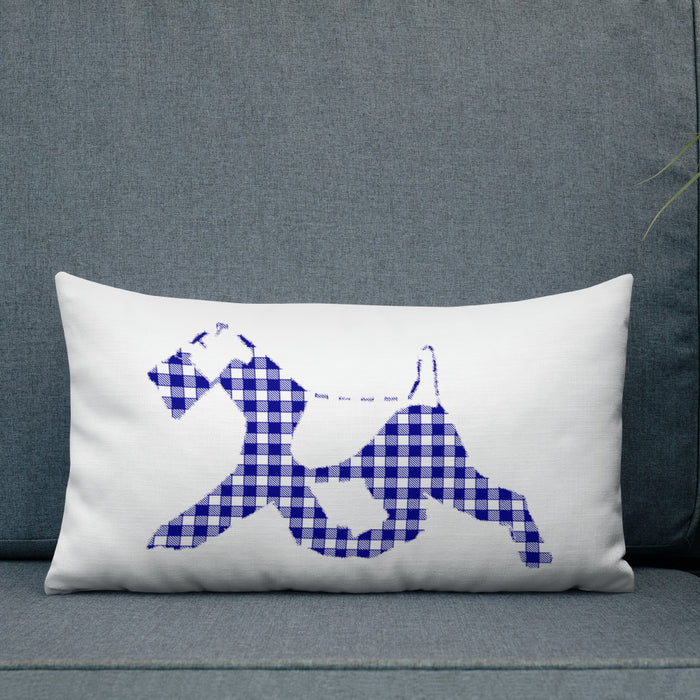Wire Fox Checkered Pillow