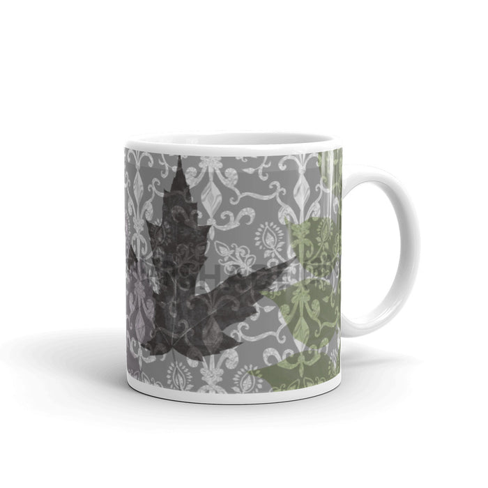 Ornamental Leaf Mug