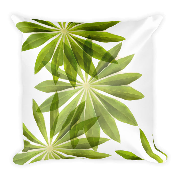 Lupin and Delphinium Leaf Cushion
