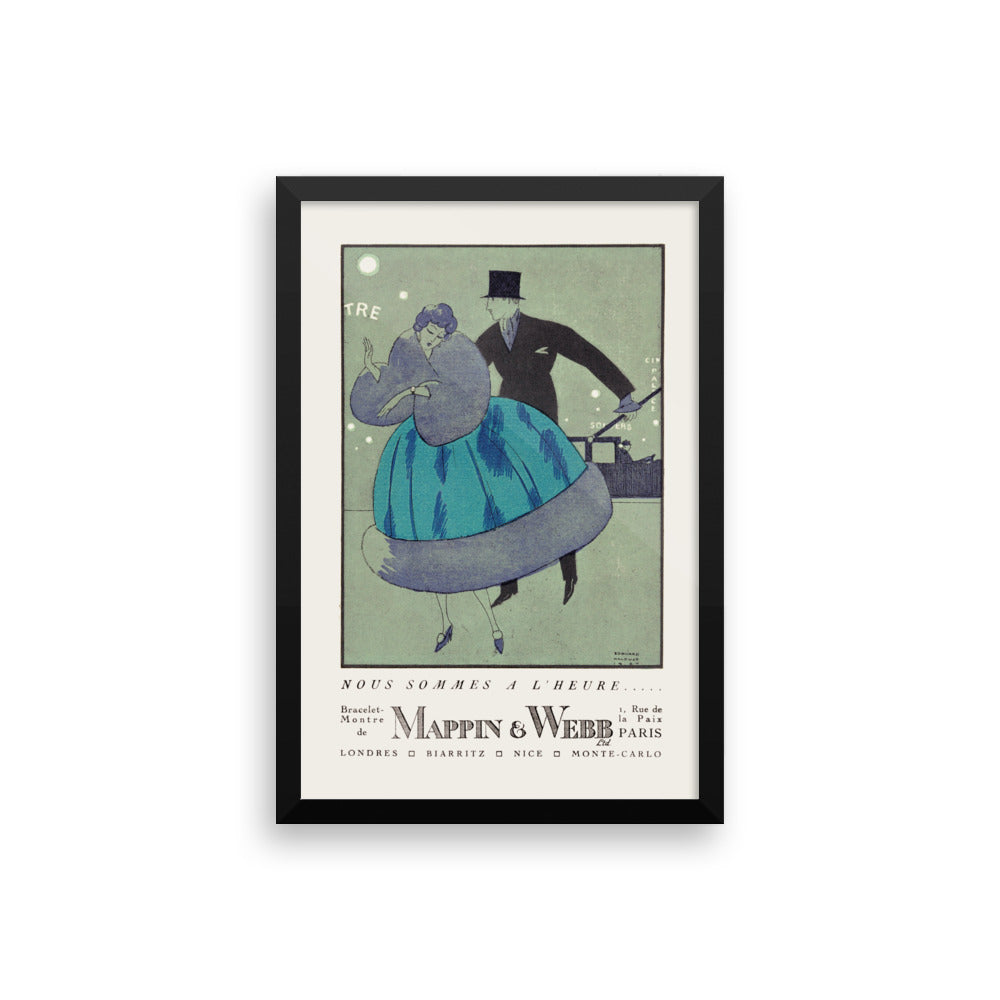 Nous Sommes A L'Heure Framed Print