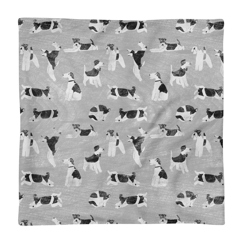 Soft Grey Foxy Cushion Covers