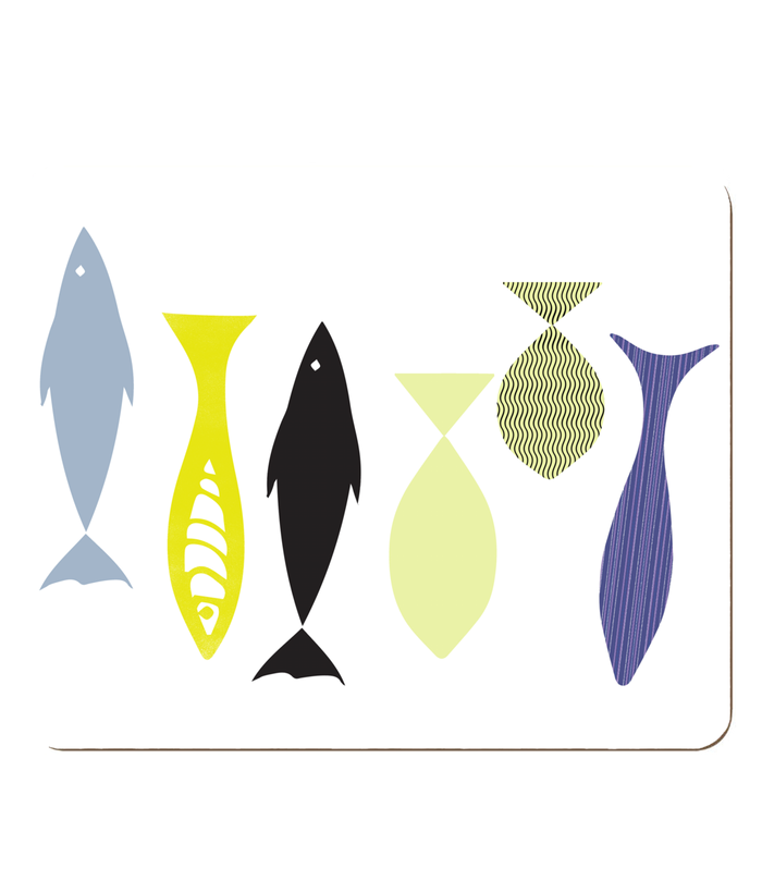 Swimming Fish Themed Hardboard Placemat