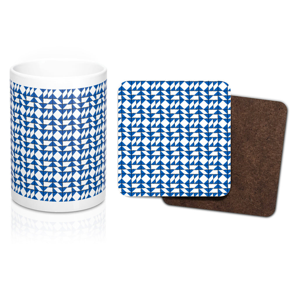 Porcelain Mug and Coaster Set