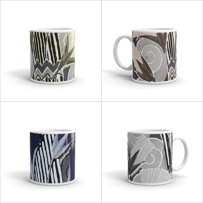 Graphic Deco Floral Mug Set