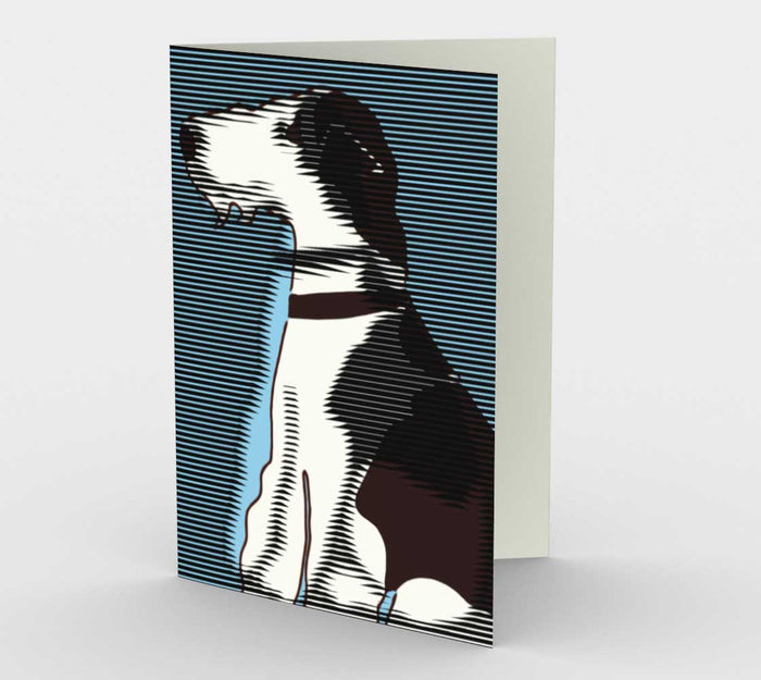 Wire Fox Terrier Pop Art Card