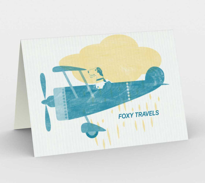 Fox Terrier Travels Art Card
