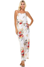 Load image into Gallery viewer, Women's Printed V-Back Elastic Waistline Jumpsuit - esstey