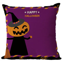Load image into Gallery viewer, Halloween Pattern Colorful Cushion Cover - esstey