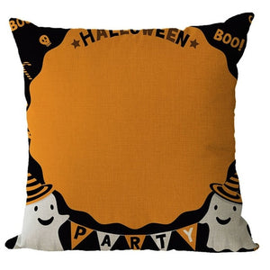 Halloween Pattern Colorful Cushion Cover - esstey