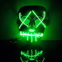 Load image into Gallery viewer, Halloween LED Light Mask Up Funny Glow - esstey