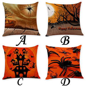 Home Decor Cushion Cover Happy Halloween - esstey