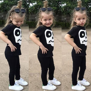 Newest Toddler Baby Boys Girls Skull Print Tops - esstey