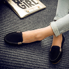 Load image into Gallery viewer, Women's Leather Shoe | 15% OFF - Big Size Flat Suede Shoes - esstey