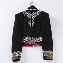 Load image into Gallery viewer, Vintage Embroidery Black Jacket | New Arrival 2018 - esstey