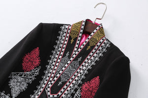 Vintage Embroidery Black Jacket | New Arrival 2018 - esstey