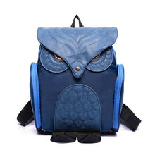 Load image into Gallery viewer, Owl shaped solid leather backpack for travelling and students - esstey