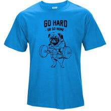 Load image into Gallery viewer, Men workout cotton t-shirt - premium Go Hard or Go Home Shirt - esstey