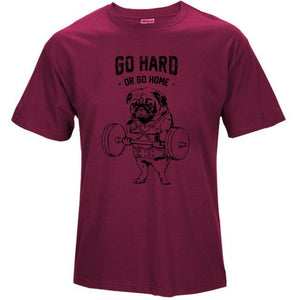 Men workout cotton t-shirt - premium Go Hard or Go Home Shirt - esstey