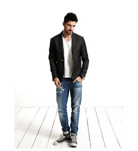 Men Casual Thin Blazer | Designer Men Fashion 100% Pure Cotton - esstey