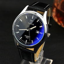 Load image into Gallery viewer, Premium Quartz Blue Glass Watch - Stainless Steel, Big Round Dial - esstey