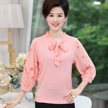 Load image into Gallery viewer, Women New & Fashionable Summer Flower Chiffon Blouse - Women Chiffon Shirt - esstey
