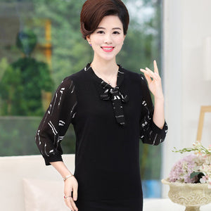 Women New & Fashionable Summer Flower Chiffon Blouse - Women Chiffon Shirt - esstey