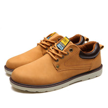 Load image into Gallery viewer, Men Solid Leather Shoes - Waterproof Lace-up Leather Shoes - esstey