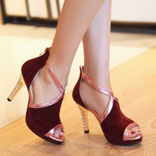 Load image into Gallery viewer, Cross-Strap High Heel Sandals for Woman - Office, Date or Party Shoes - esstey