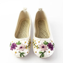 Load image into Gallery viewer, Vintage Floral Embroidery Summer Footwear | Summer Collection 2018 - esstey