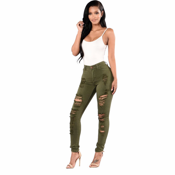High Waist Women's Ripped Jeans | Street Wear 2018 - esstey