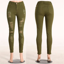 Load image into Gallery viewer, Express Delivery: High Waist Women's Ripped Jeans - Street Wear 2018 - esstey