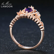 Load image into Gallery viewer, Natural Amethyst Royal Crown Teardrop Ring | New Arrival 2018 - esstey